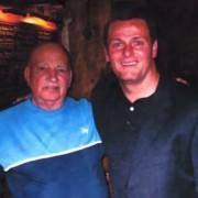 Committee member Iain Ross, with Jim Magilton